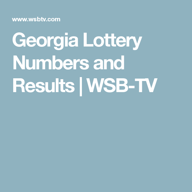 Lottery Numbers and Results WSBTV Lottery