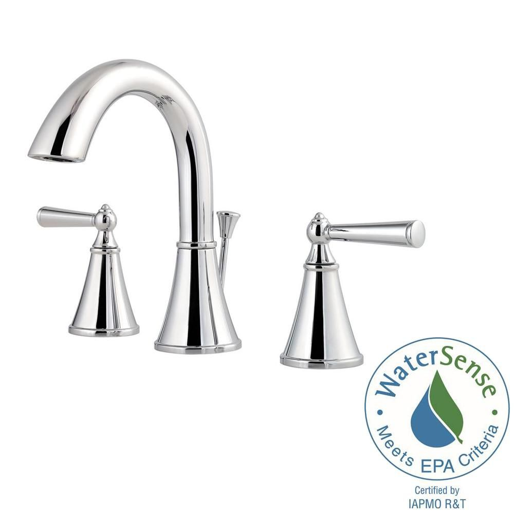 Pfister Saxton 8 in. Widespread 2-Handle Bathroom Faucet in Polished ...