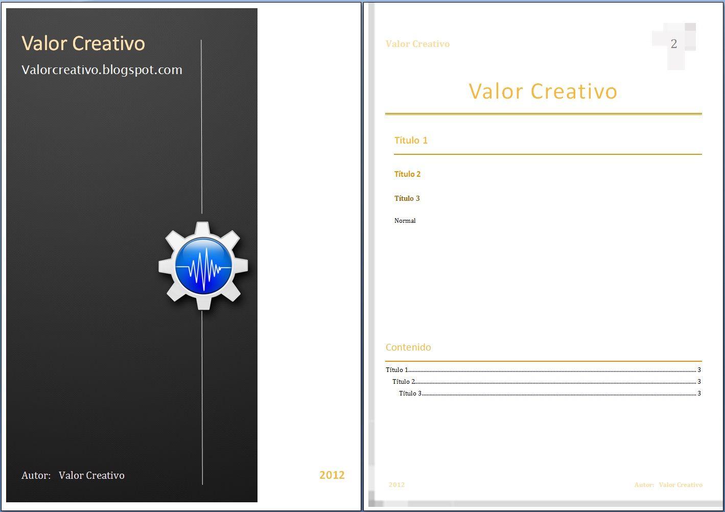 Valor Creativo: Plantillas Word 2003, 2007, 2010 y 2013 | chicas ...