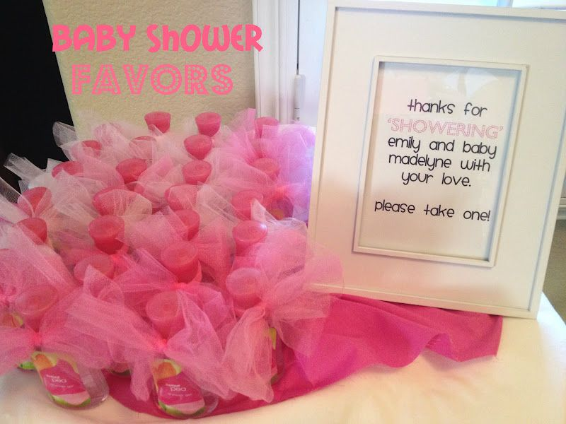 baby shower favors for girls  here's what i handed out for the, Baby shower invitation