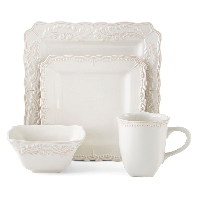 JCPenney Home™ Amberly 16-pc. Square Dinnerware Set in 2019 ...