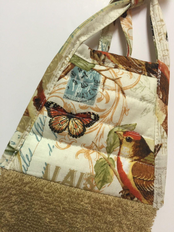 Butterfly Bird Towel   Bird Kitchen Towel   Butterfly Tea Towel   Modern  Decoru2026