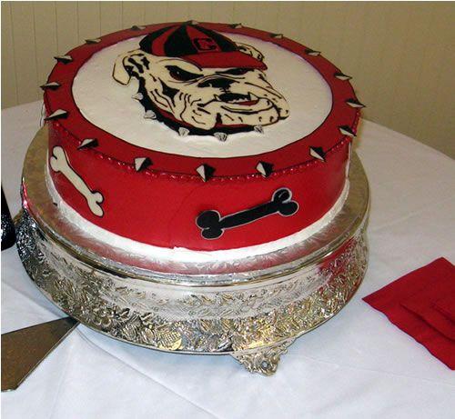 Georgia Bulldog Birthday Cake Decorations