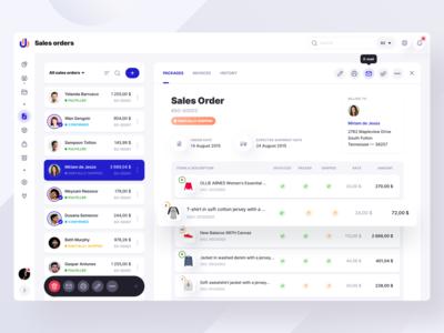 Sales Orders List By Anton Yefimenko On Dribbble In 2020 Web App Design Web Design Dashboard Design