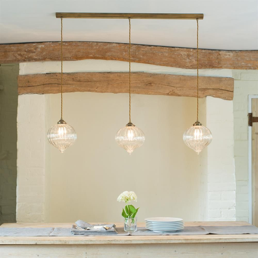 Ava Triple Pendant Track In Nickel Lighting