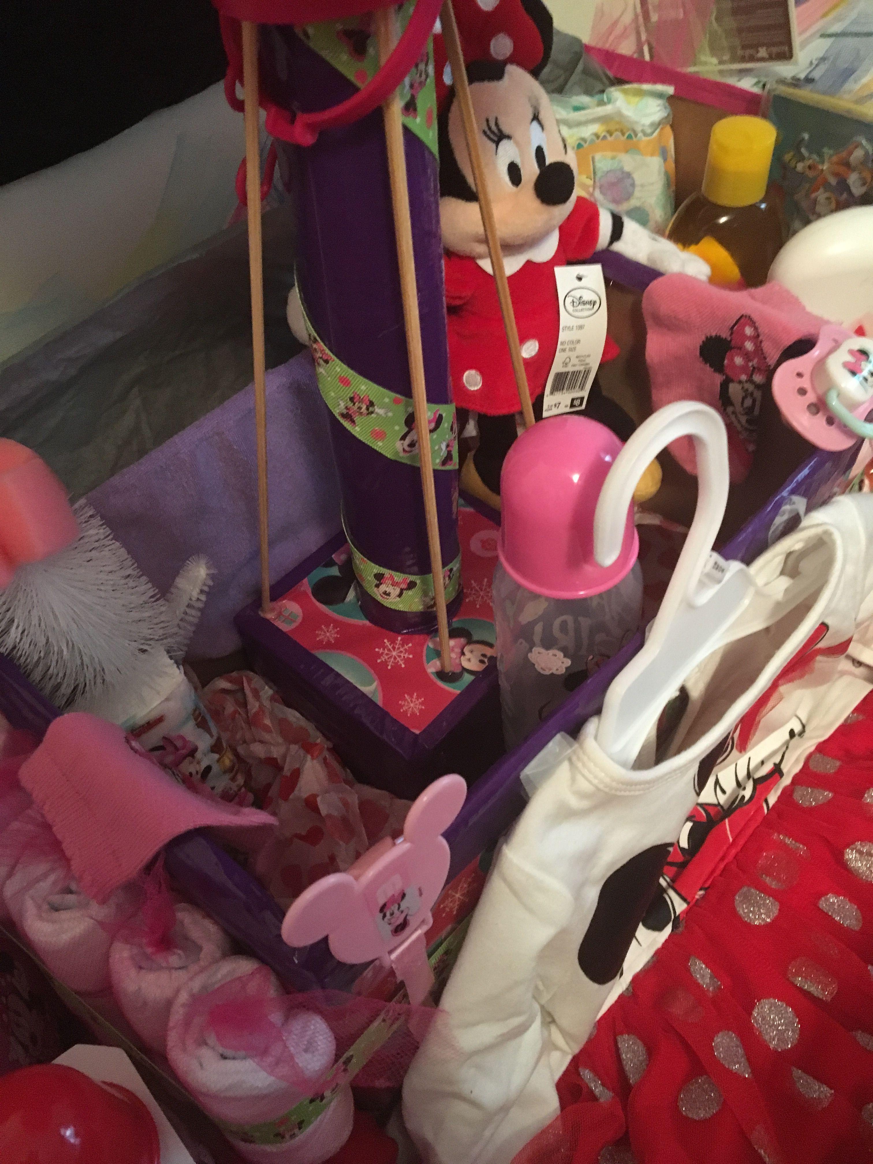 Minnie Mouse Diaper Hot Air Balloon