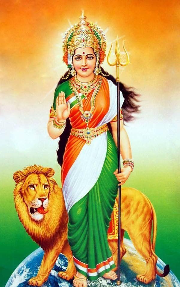 Bharat Mata   Indian flag wallpaper, Lord krishna images