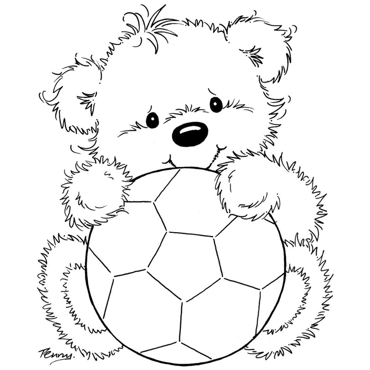 Osito con balón riscos e tal pinterest bears craft and movie