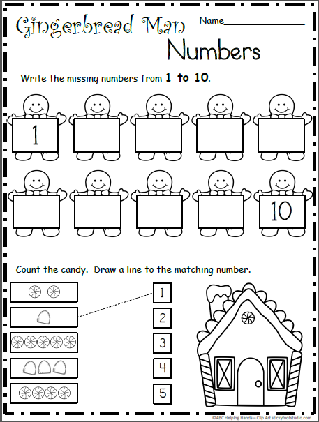 Gingerbread Man Number Practice - 1 to 10 | Holidays | Pinterest ...