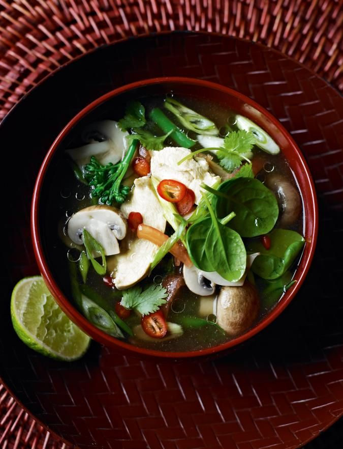 Hot and sour Thai chicken soup | Recipe | Chicken soup ...