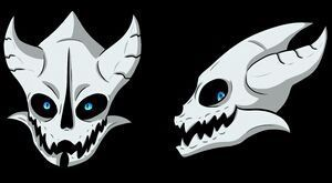 Error!Sans x Child!Skeleton!Reader - Blasters and    why are
