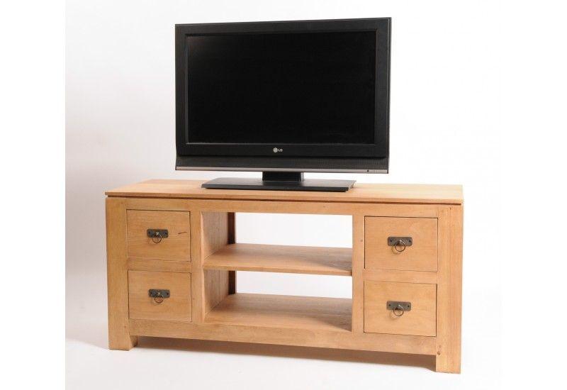 meuble tv hevea naturel natural 4