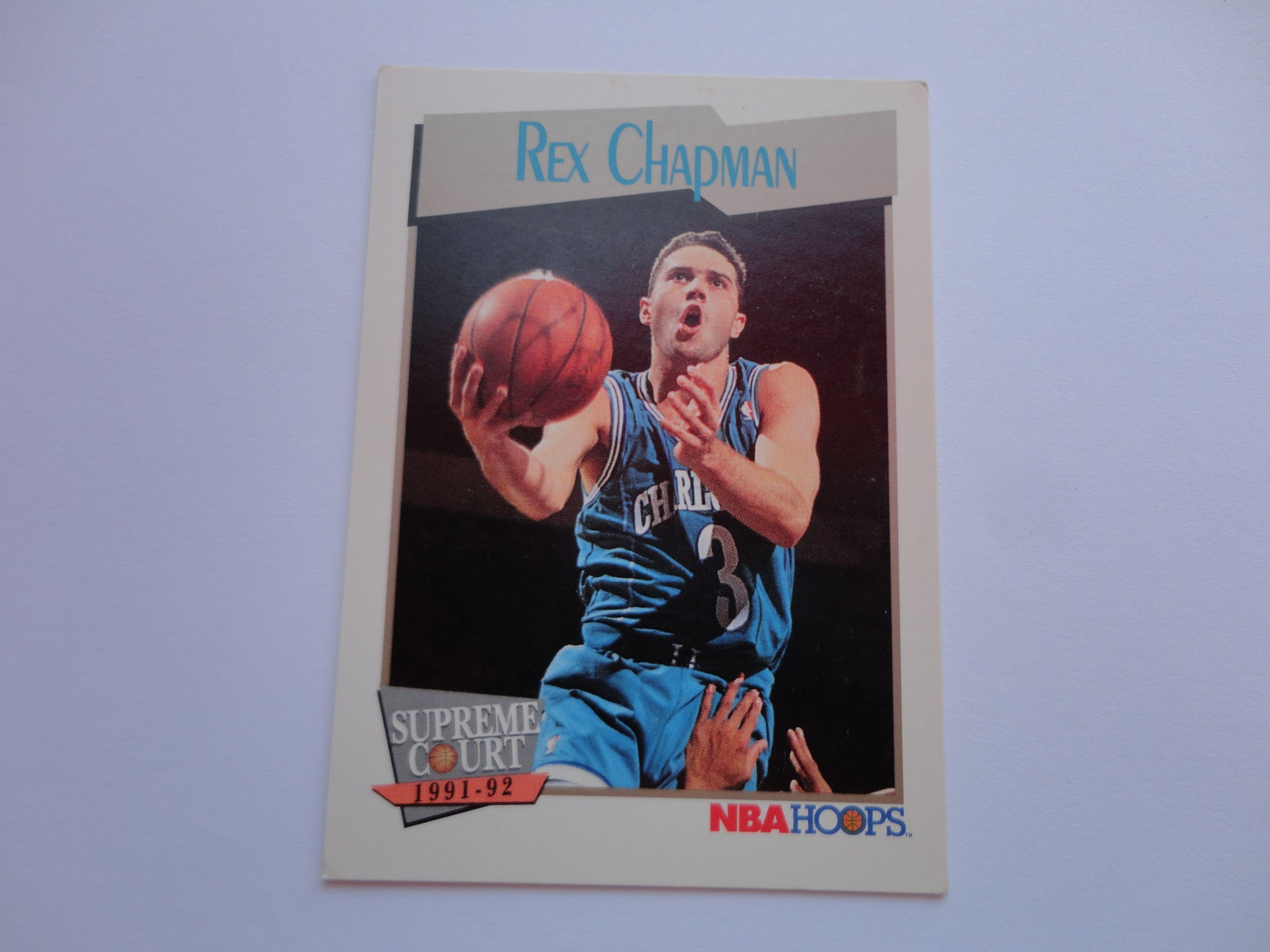 Rex Chapman NBA Hoops Supreme Court 1991 92 Basketball Card