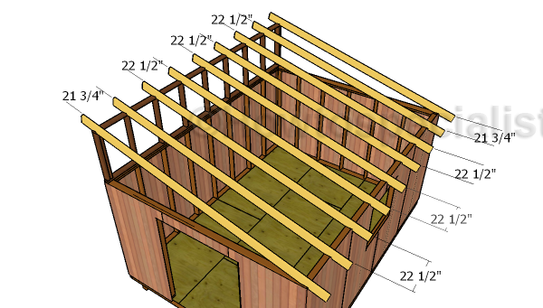 12x16 Lean To Shed Roof Plans Howtospecialist How To Build Step By Step Diy Plans Shed Roof Lean To Shed Shed Plans