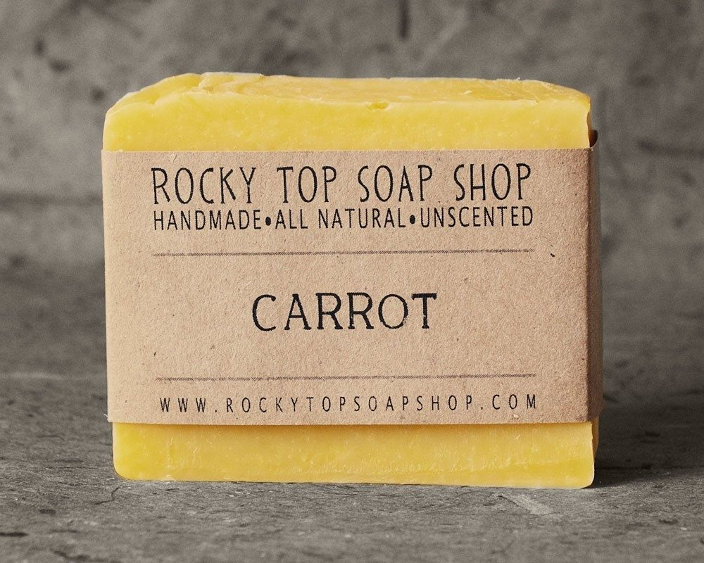 Carrot Soap - All Natural Soap, Handmade Soap, Cold Process Soap, Unscented Soap, Vegan Soap