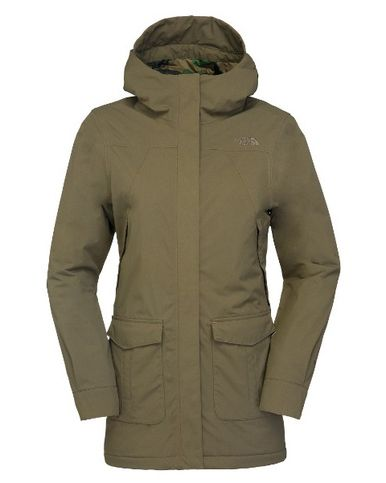 The North Face Women's NSE Jacket, Burnt Olive Green Parka