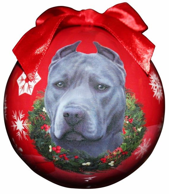 "Pit Bull Dog Christmas Santa Hat Sticker Decal Design  /""SIZES/'/'"