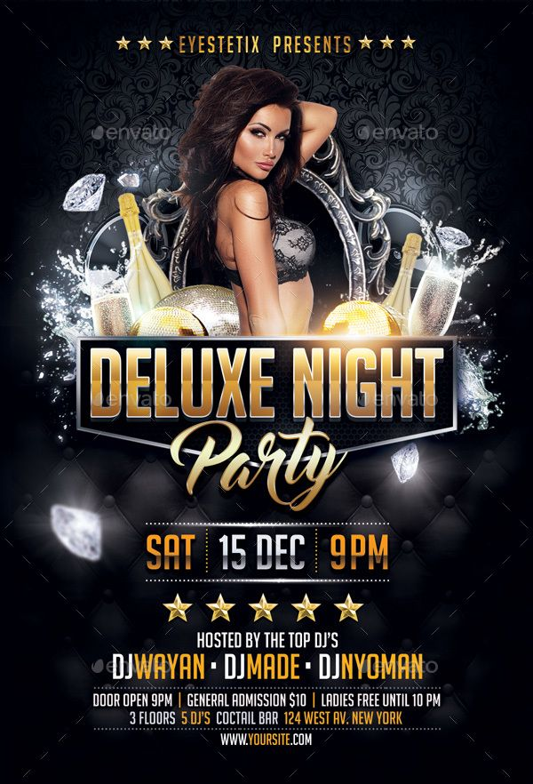 Deluxe Night Party Flyer DJ flyer Party flyer, Flyer maker