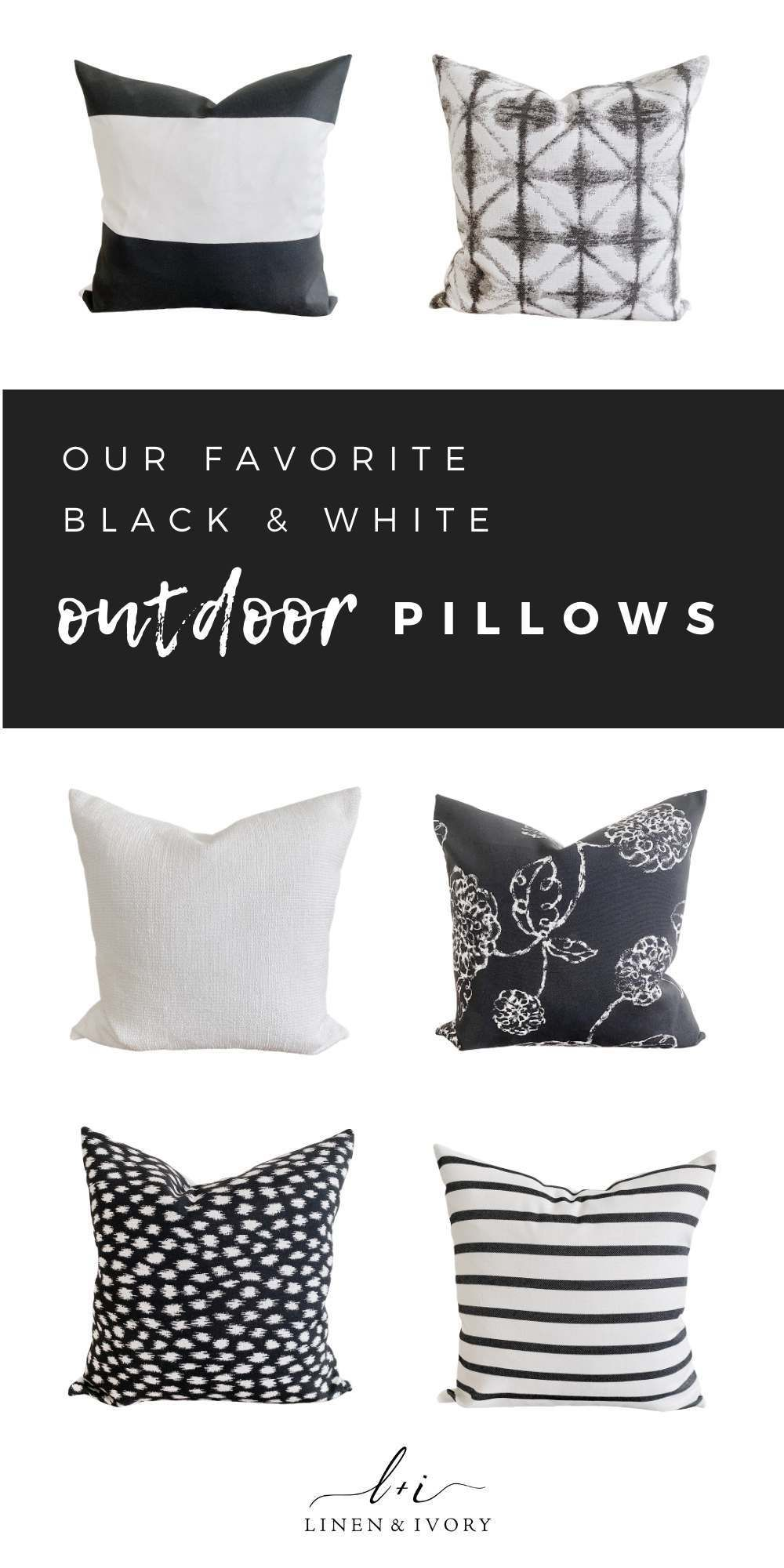 Outdoor Pillows Covers Black White In 2020 Outdoor Pillow Covers Striped Outdoor Pillow Outdoor Pillows