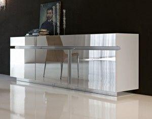 Modern Mirrored Buffet Table