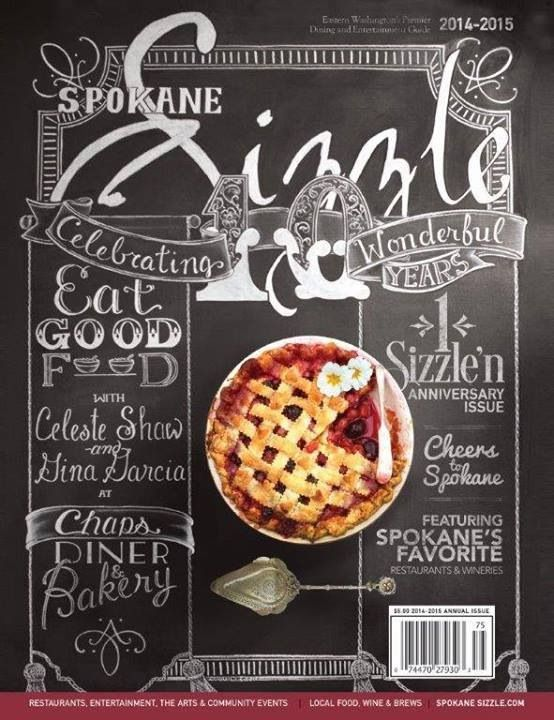 Amazing typography by the uber talented Coquille Vintage for Chaps diner and  Spokane Sizzle Spokane Washington.