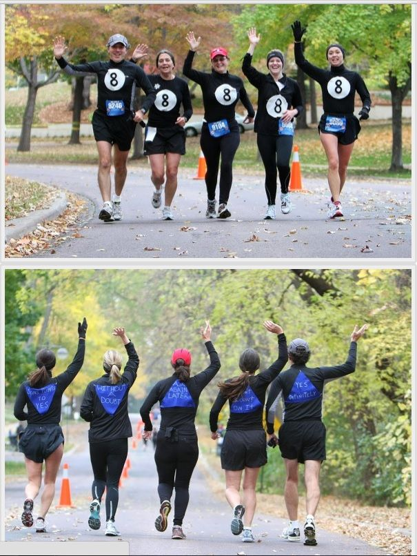 magic 8 ball super easy to do and cute matching running costumes - Magic 8 Ball Halloween Costume