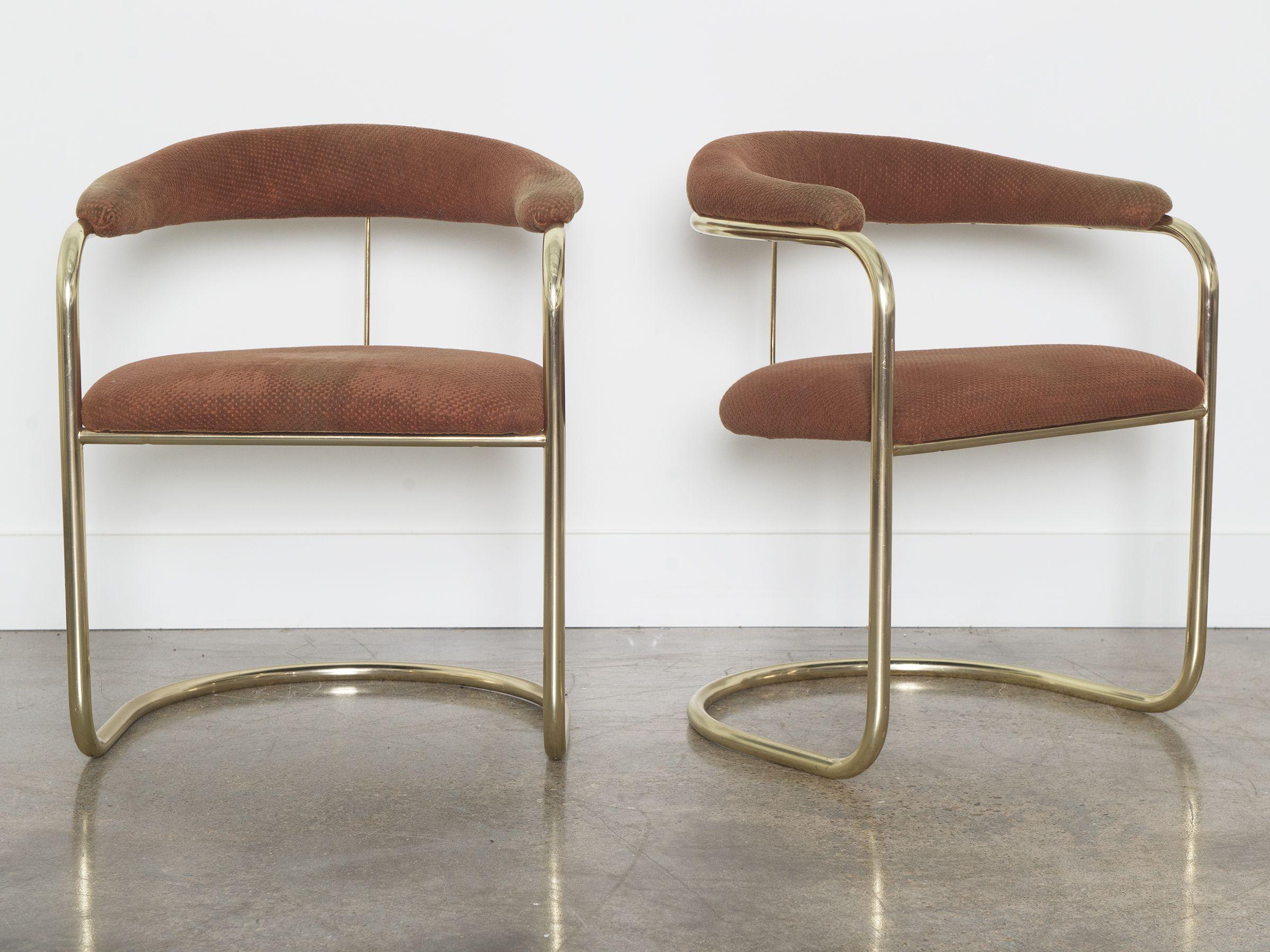 Beau Anton Lorenz Brass Chairs By Thonet (6)