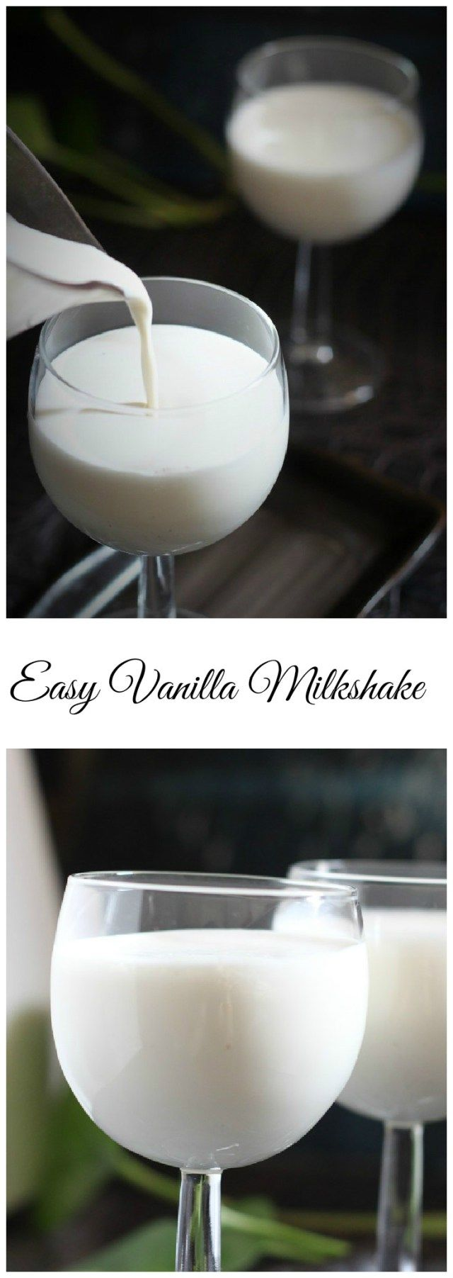 4 ingredient easy and tasty Vanilla Milkshake