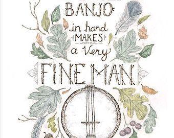 Banjo poster   Etsy