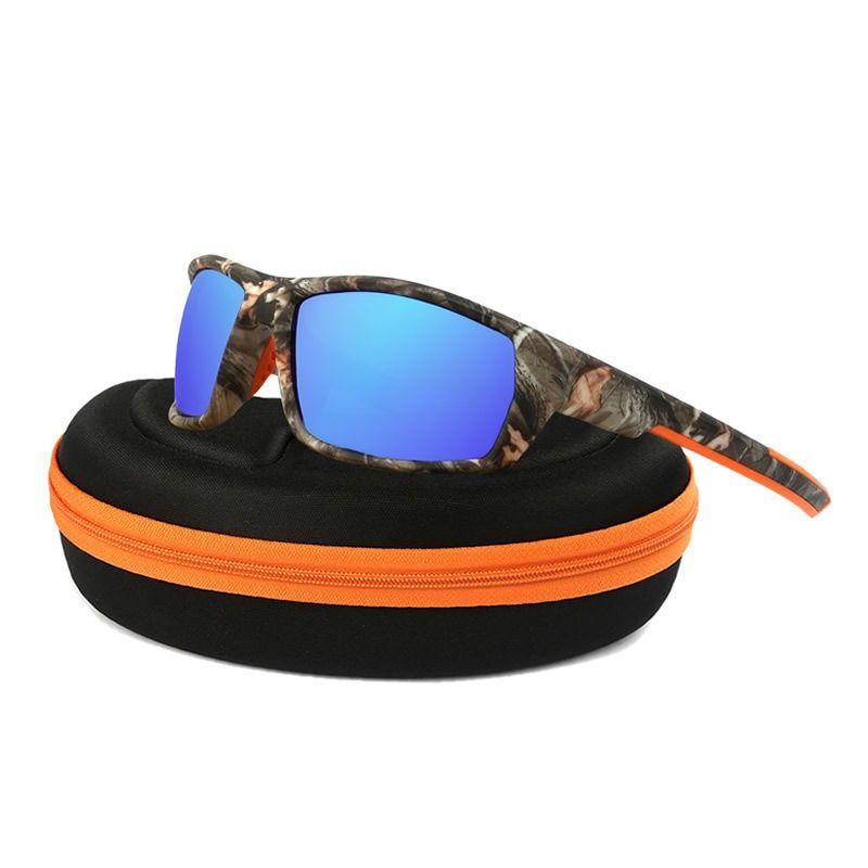 Camo Polarized Cycling Glasses Driving Fishing Sports Sunglasses UV400 Goggles 2