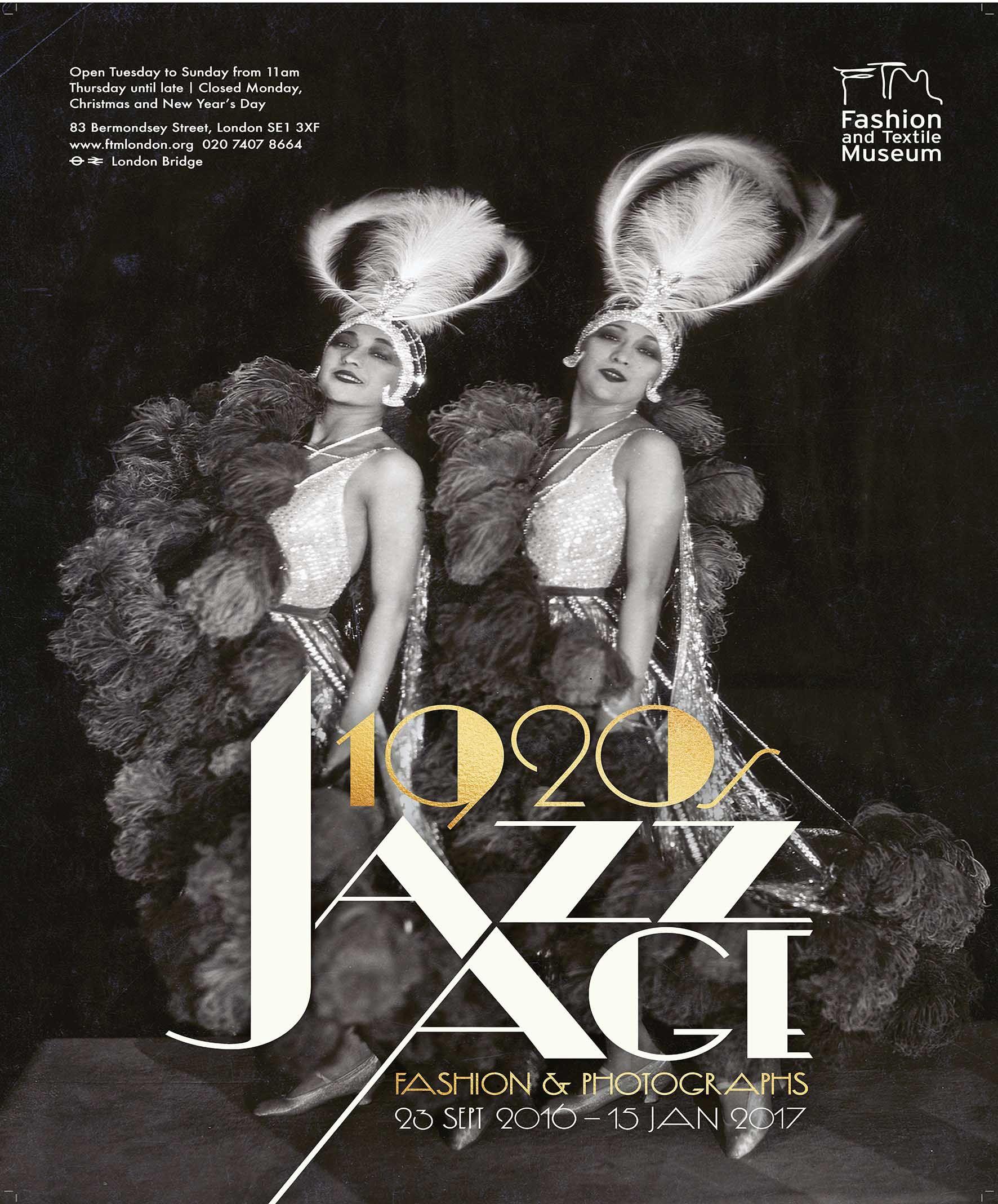 S Jazz Age Fashion Amp Photographs Exhibition Poster