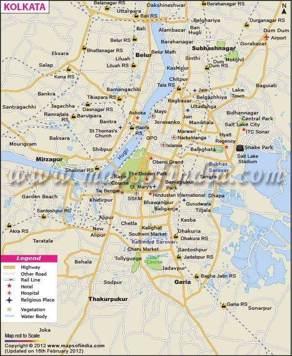 Kolkata Map City Maps Of India India Map City Maps Map