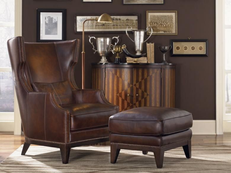 Fores Leather Chair And Ottoman Chair Ottoman