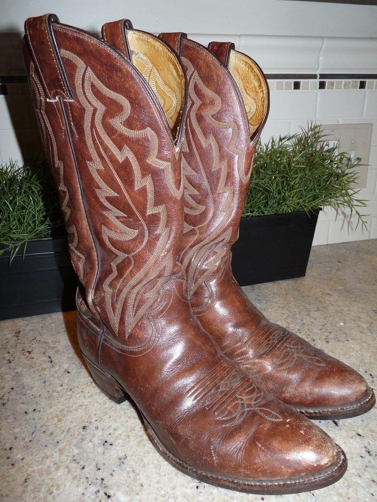 1f86c8a9da7 ICYMI: JUSTIN Style 1949 Mens Brown Leather Western Cowboy Boots ...