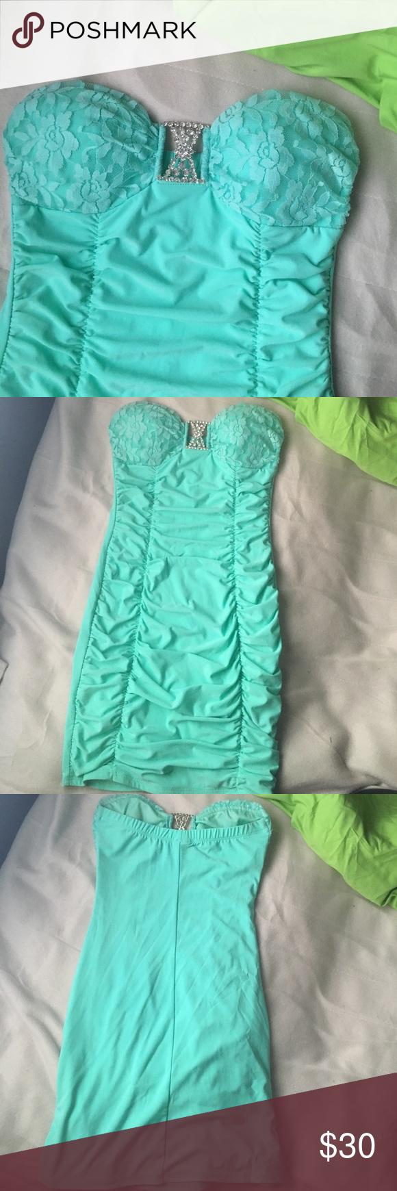 A sea foam blue semi-formal dress | Blue dresses, It is and Minis