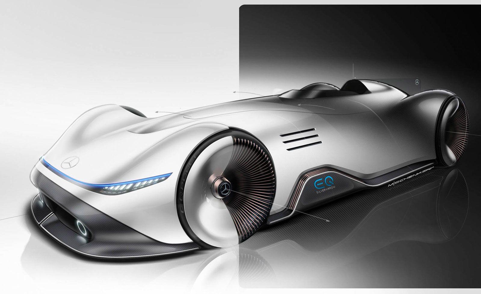 Mercedes Benz Vision Eq Silver Arrow Concept Design Sketch Render Concept Car Design Concept Cars Car Design