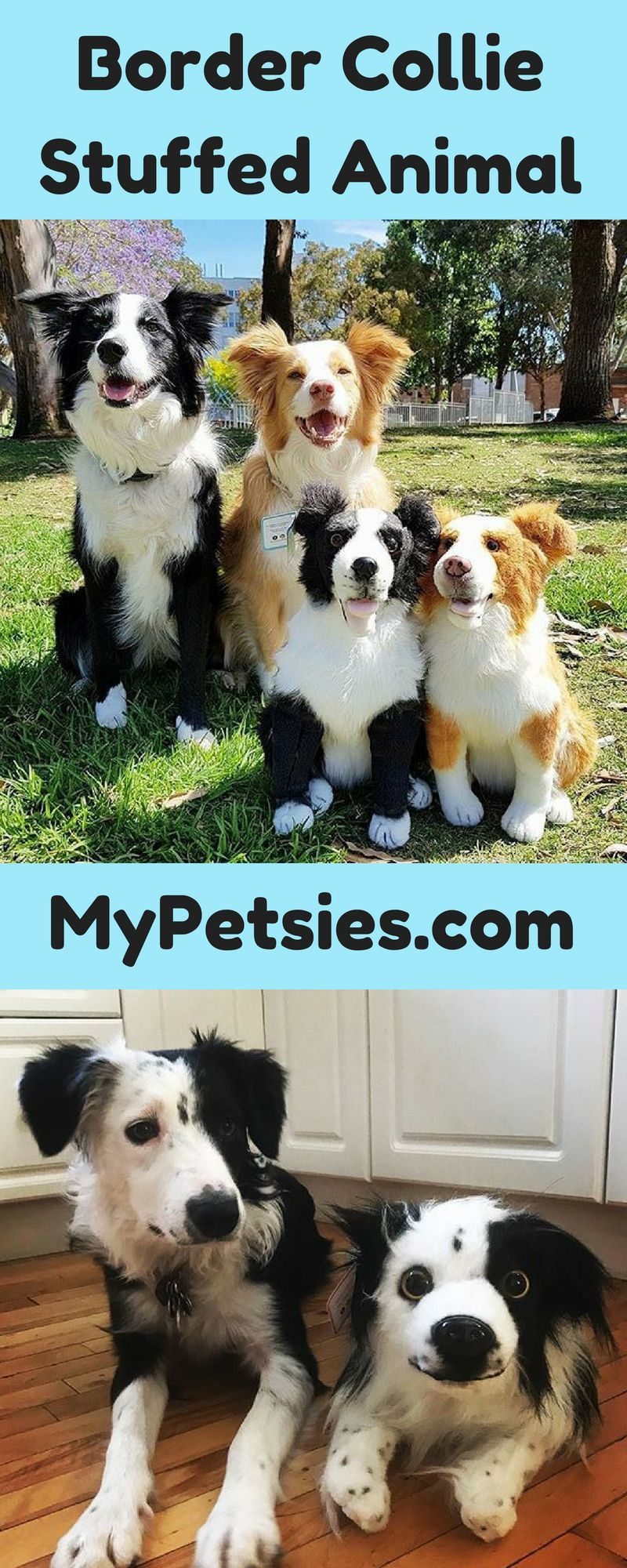 Love Your Border Collie Get A Plush Lookalike To Bring Everywhere