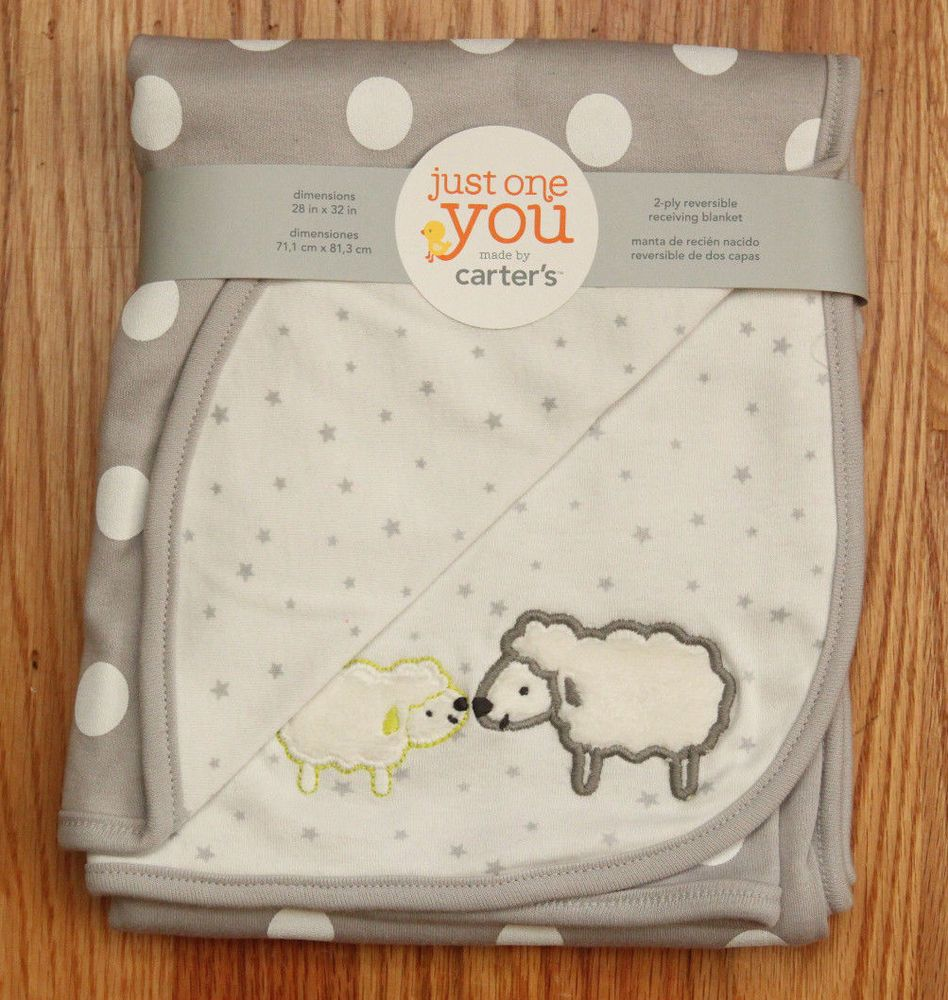 Carter S Just One You Reversible Receiving Blanket Sheep