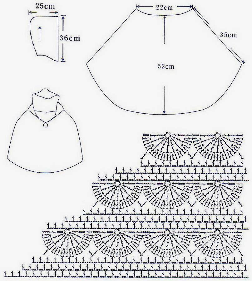 Crochet Shawls: Crochet Patterns Of Beautiful Poncho With