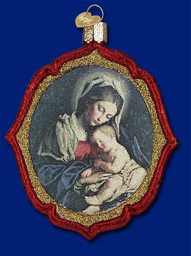 Glittery madonna  child from   wwwoldworldchristmas