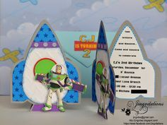 Toy Story Buzz Lightyear And Woody Rocketship Outerspace