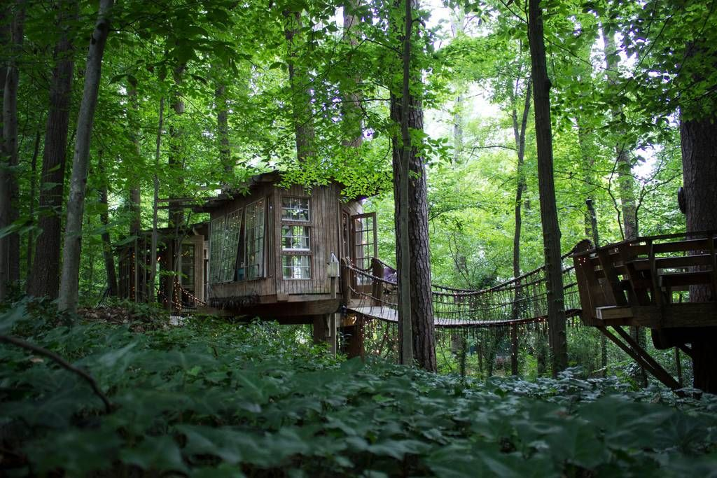 Secluded intown treehouse casas en el rbol en alquiler for Alquiler casa arbol