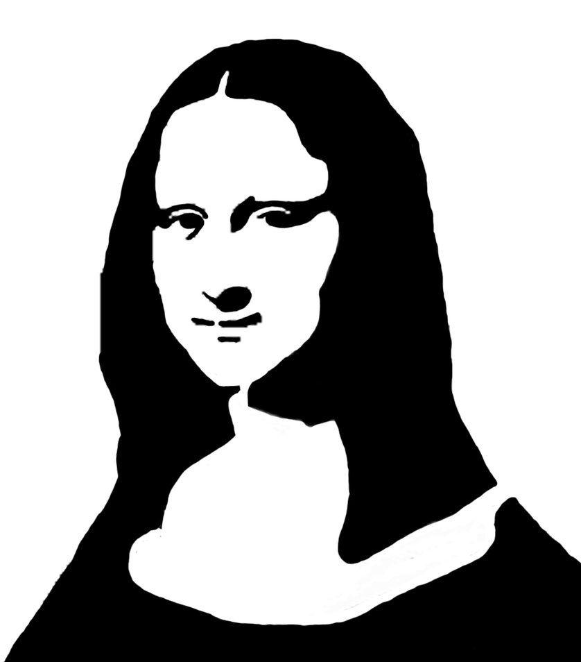 Mona Lisa Stencil by peoplperson   Creating stencil artand spray ...