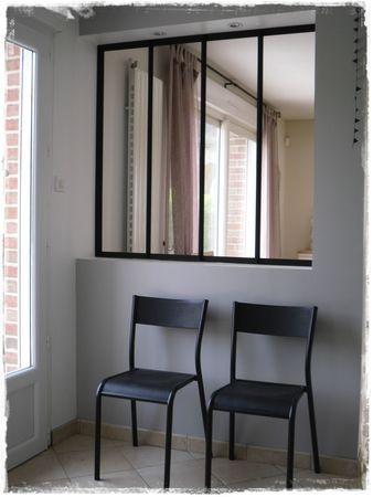 Cloison atelier et chaises d 39 cole vetrate interne home decor little kitchen e window mirror - Finestre a specchio ...