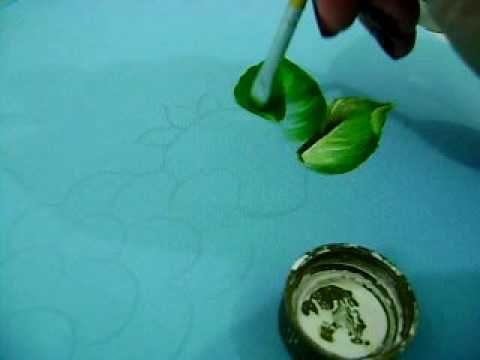 MOV05621pintura básica de folhas, vídeo amador do cantinho da arte da va...