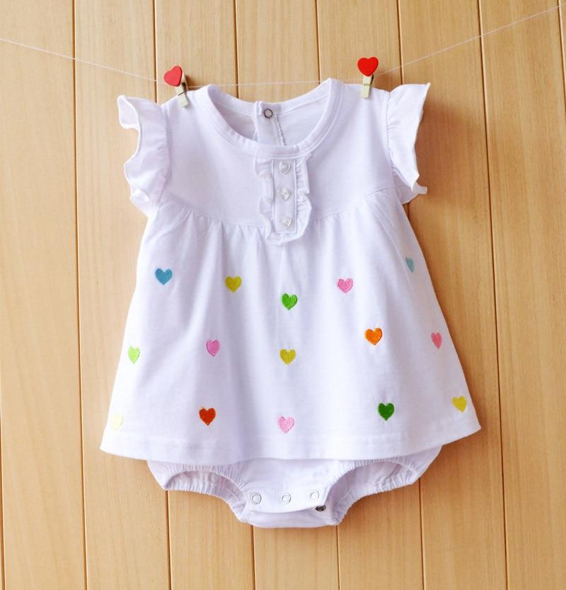 0307573c94d Baby Girl Clothes 2018 Summer Baby Rompers Roupas Bebes Flower Baby Girls  Dress Newborn Baby Clothes Cotton Infant Jumpsuits
