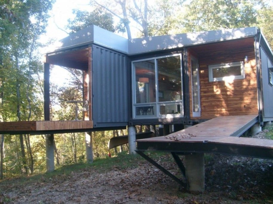 Home Design Exterior Blue Wall Color Shipping Container Home ...