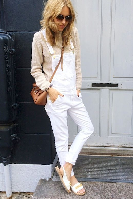 8c58916e7347 17 Ways To Wear White Overalls White Overalls