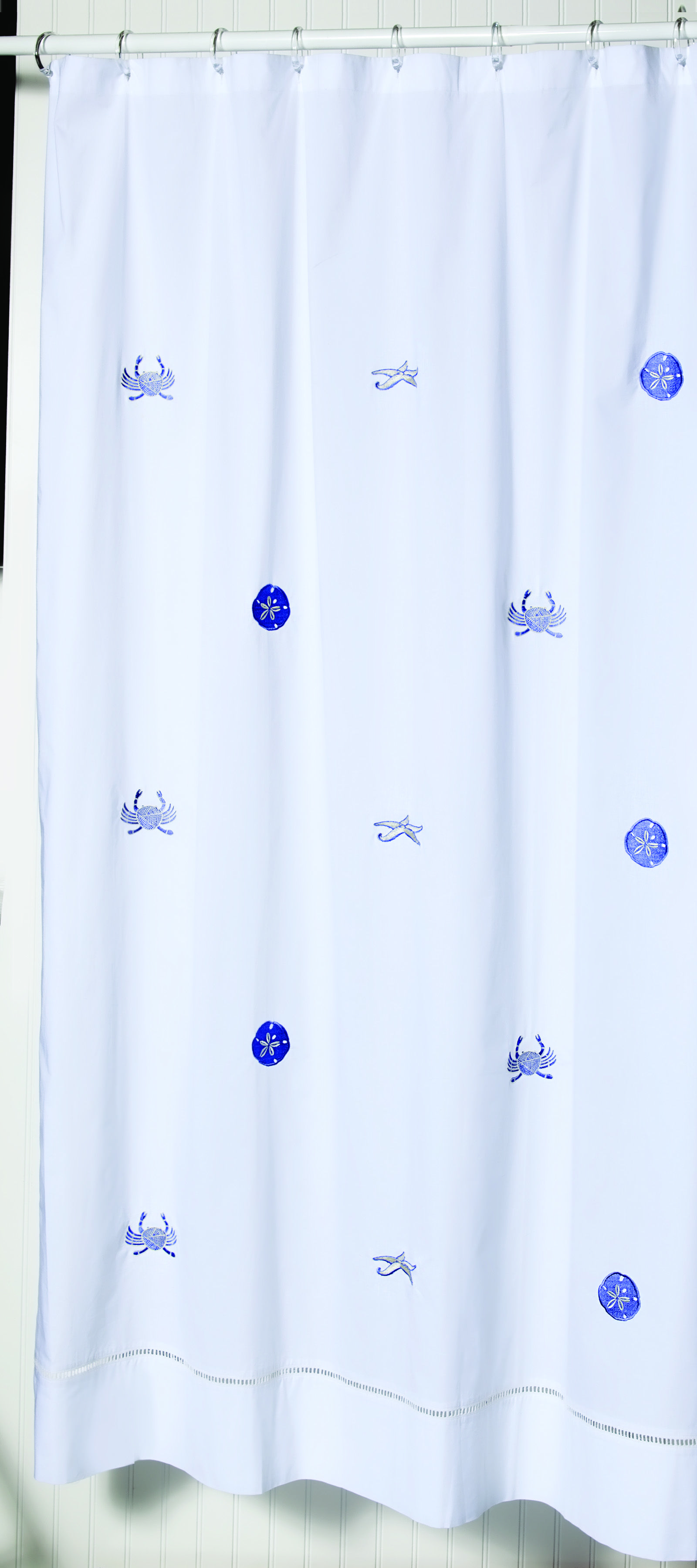 #embroidered #showercurtains Beautiful embroidered 100% cotton bathroom shower curtains #jacarandaliving