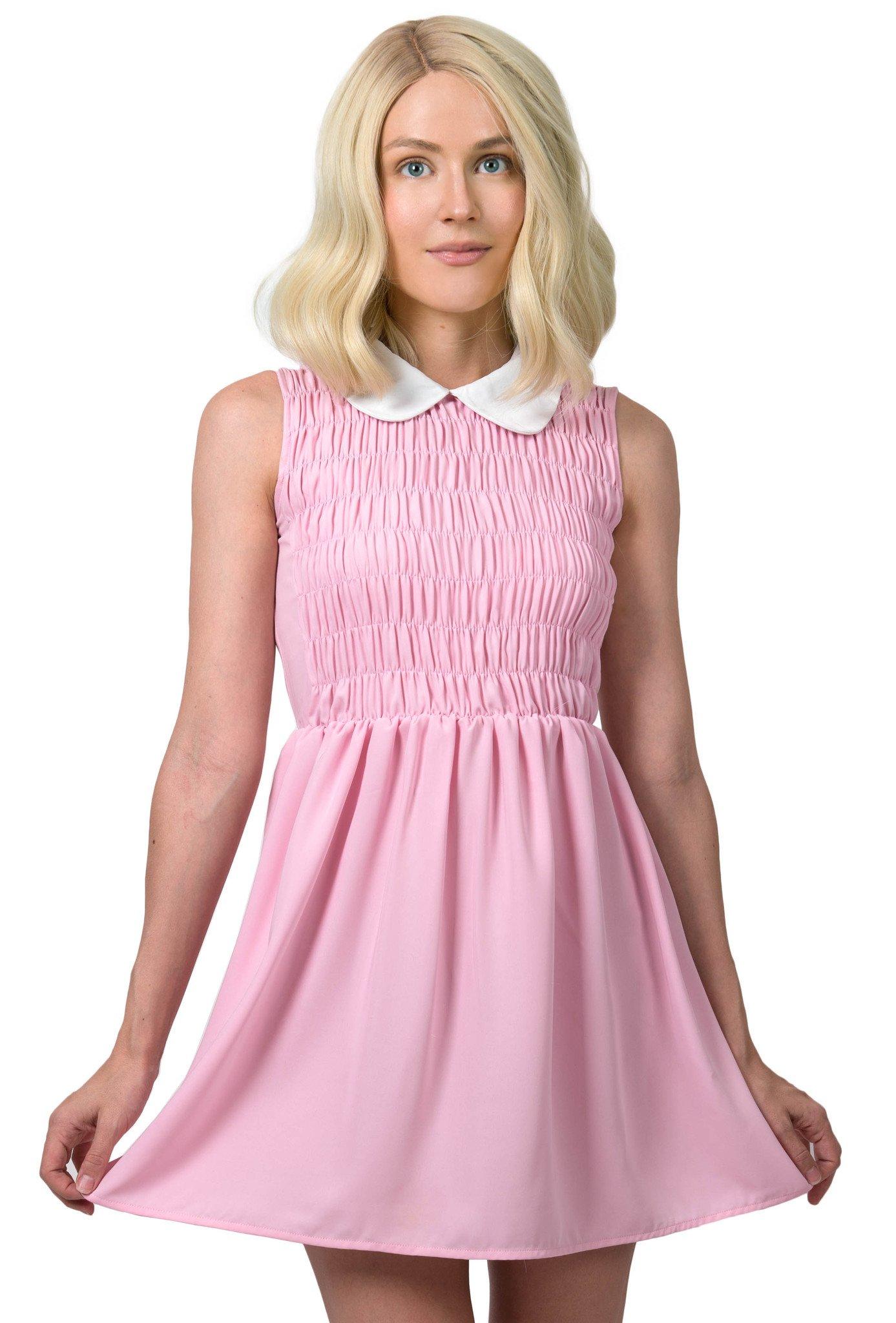 Pink dress from stranger things  Eleven Dress Stranger Things Costume  Boo season  Pinterest